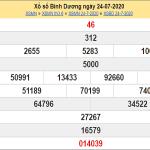 Bảng KQXSBD- Soi cầu xổ số bình dương thứ 6 ngày 31/07 hôm nay
