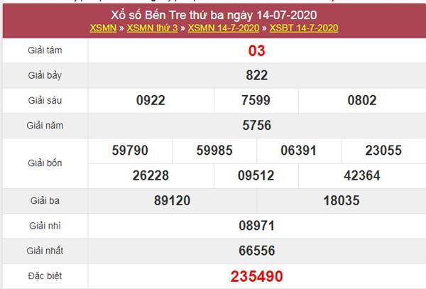 Soi cầu KQXS Bến Tre 21/7/2020 VIP cực chuẩn xác