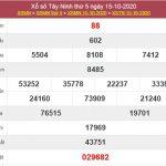 Soi cầu XSTN 22/10/2020 chốt lô số đẹp Tây Ninh thứ 5