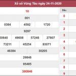 Soi cầu KQXS Vũng Tàu 1/12/2020 thứ 3 độ chuẩn xác cao