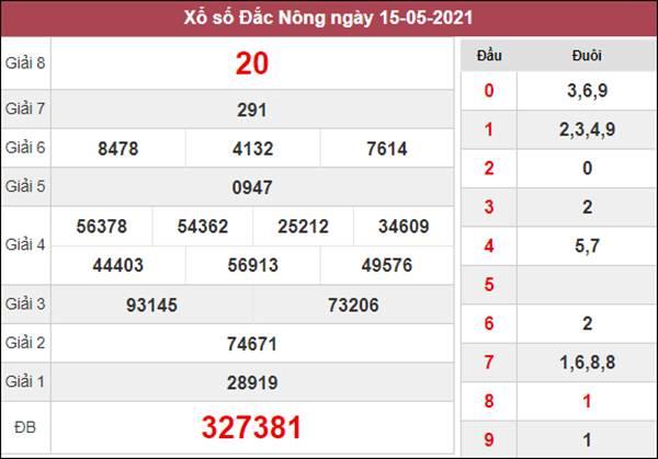 Soi cầu KQXS Đắc Nông 22/5/2021 chốt XSDNO thứ 7