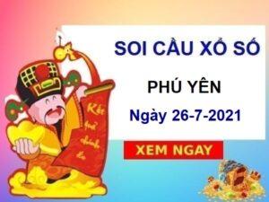 Soi cầu XSPY ngày 26/7/2021 chốt số Phú Yên thứ 2