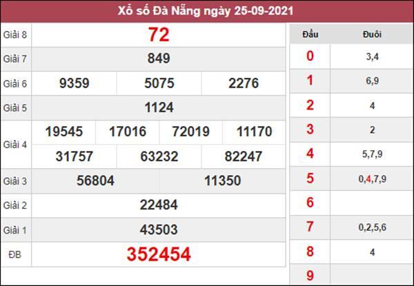 Soi cầu KQXS Đà Nẵng 29/9/2021 chốt giải đặc biệt